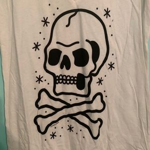 XL White Sourpuss Clothing Skull Shirt